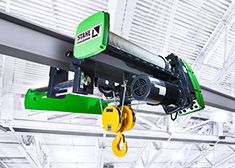 The SH wire rope hoist from STAHL CraneSystems is one of the best hoists in the world. Field-proven thousands of times, equipped for every application, low-maintenance and with a tremendously long service life. Perfect crane technology from Germany.